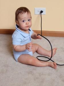 enfant danger cable electrique