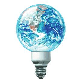 Ampoule bon pour l'environement la terre
