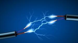 etincelle bleu electricit