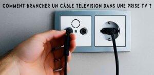 Comment brancher un câble télévision dans une prise TV