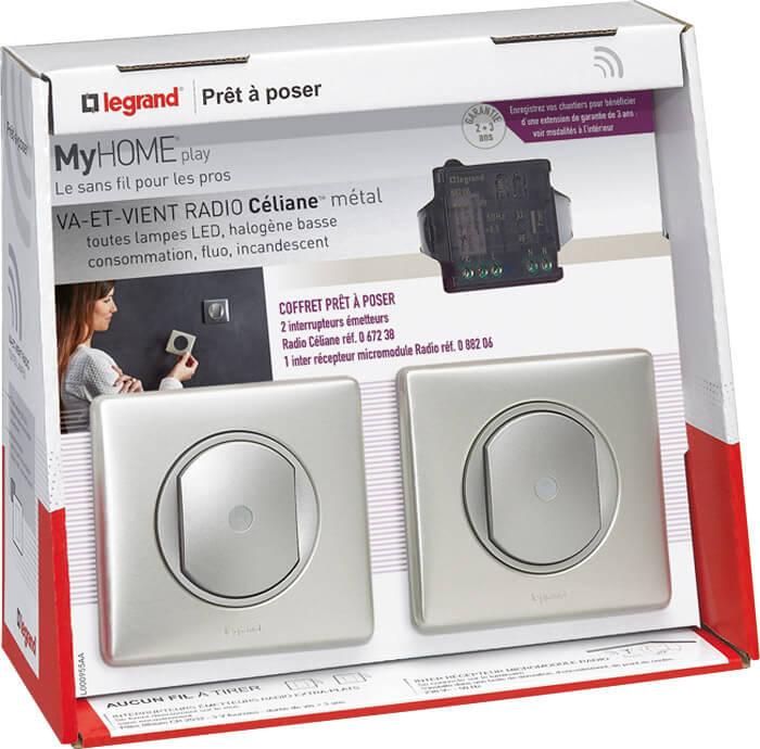 interrupteur fixer au mur sans fil sur paris. Black Bedroom Furniture Sets. Home Design Ideas